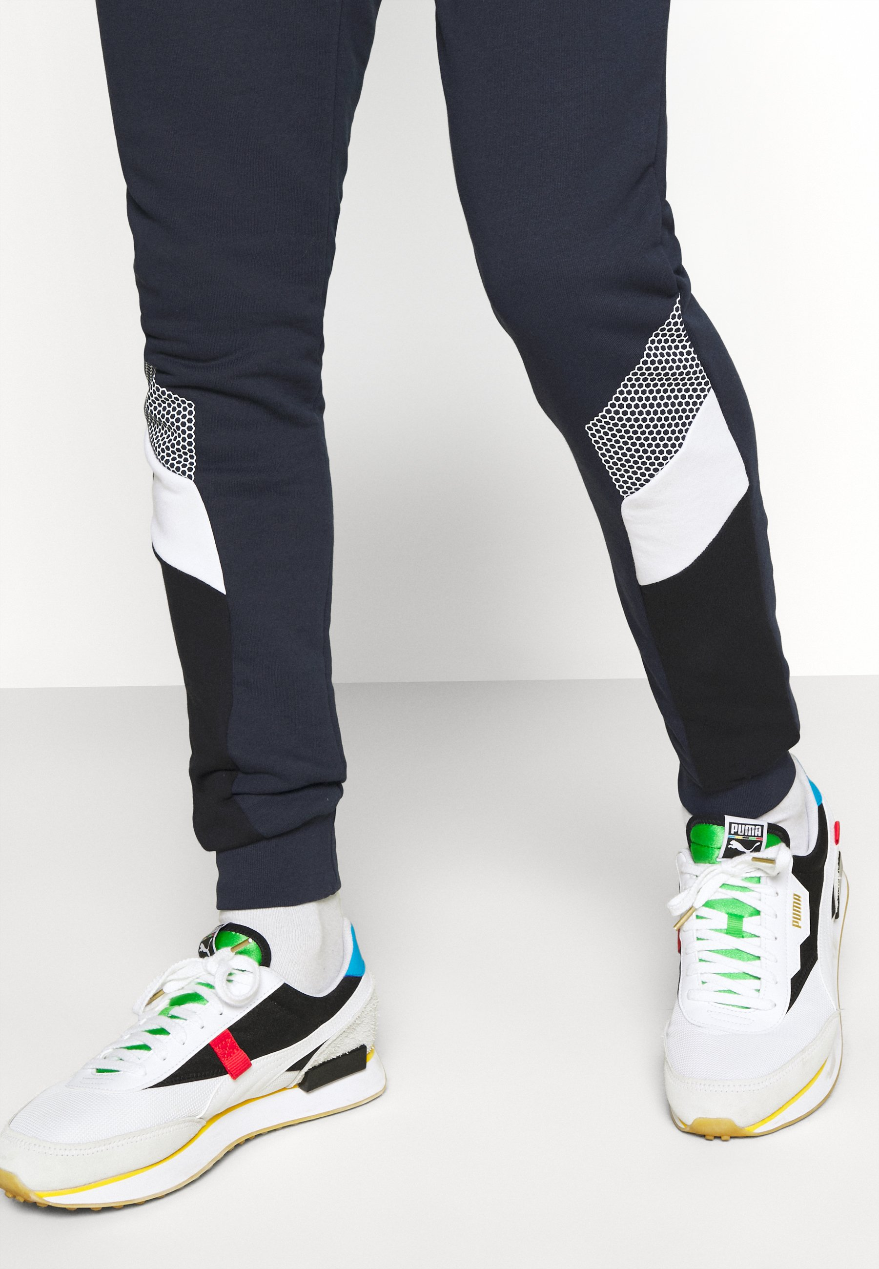 11 DEGREES MERCURY PRINT CUT AND SEW JOGGERS SKINNY FIT - Tracksuit bottoms - navy VfM0R