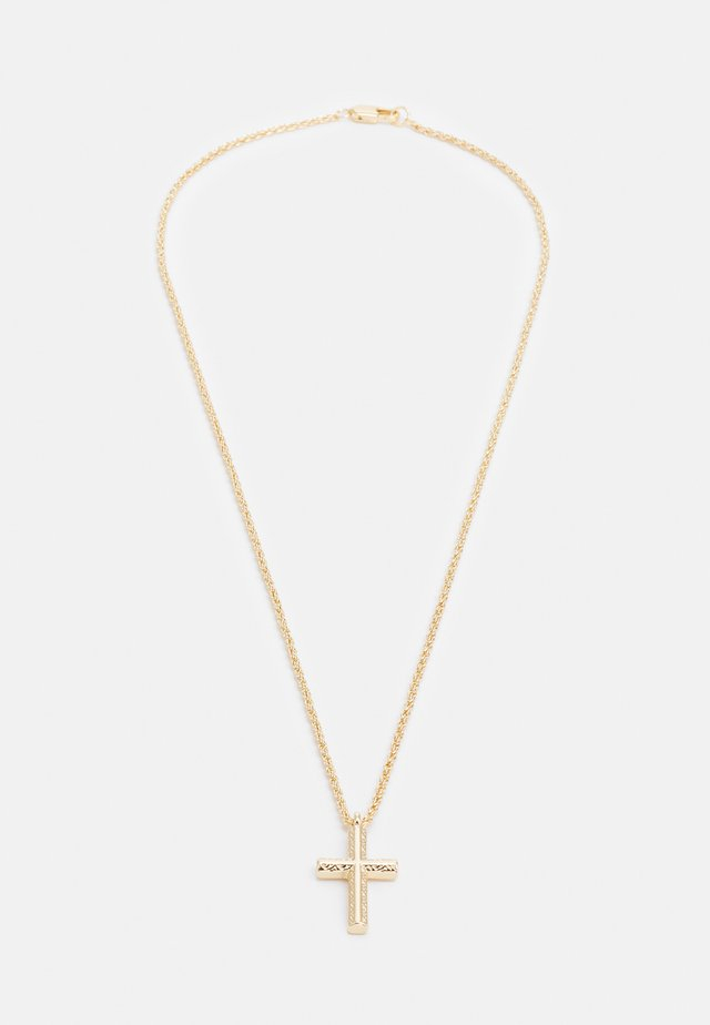 ETCHED CROSS PENDANT - Ketting - gold-coloured