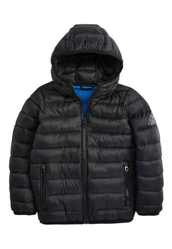 BLACK SHOWER RESISTANT PADDED JACKET (3-16YRS)