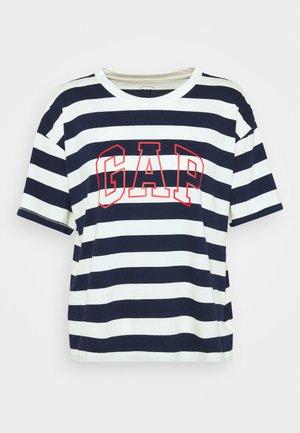 EASY TEE - T-shirt med print - navy/white