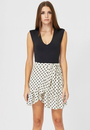 RUSTIKALER - Mini skirt - white
