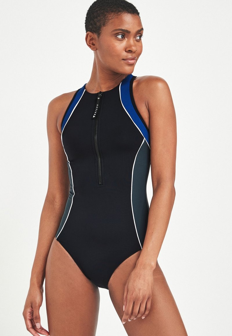 Next - ZIP - Swimsuit - black