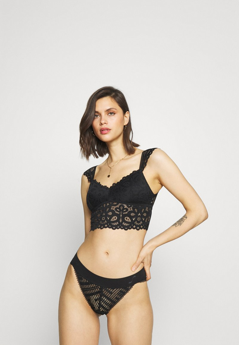 Gilly Hicks - CAPSLEEVE - Bustier - casual black