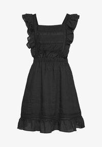 SUMMER DRESS WITH PINTUCKS AND RUFFLES - Day dress - black