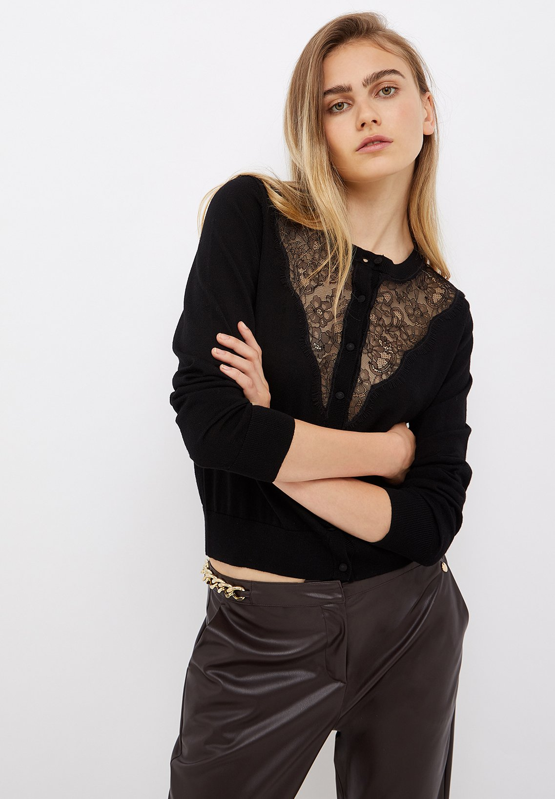 Donna WITH LACE INSERTS - Cardigan