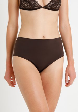HIGH WAIST BRIEF - Pants - semisweet