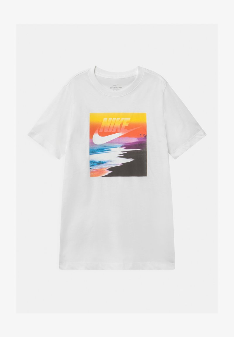 Nike Sportswear - FUTURA BEACH UNISEX - Print T-shirt - white