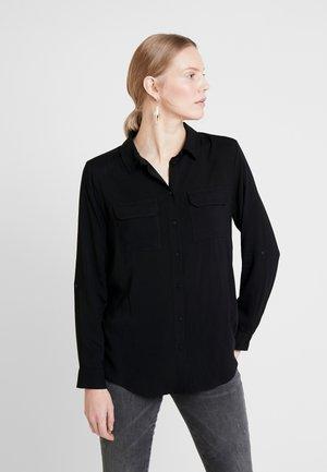 RADIA - Button-down blouse - black