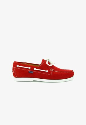 BOAT SHOES - Boat shoes - red