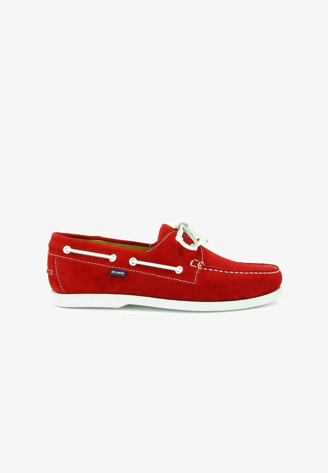 BOAT SHOES - Bootschoenen - red