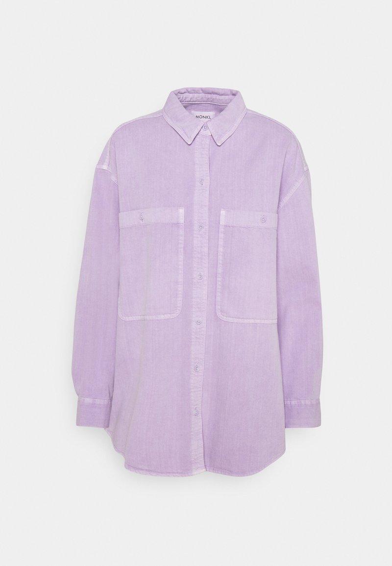 Monki - ALLISON - Button-down blouse - lilac purple light