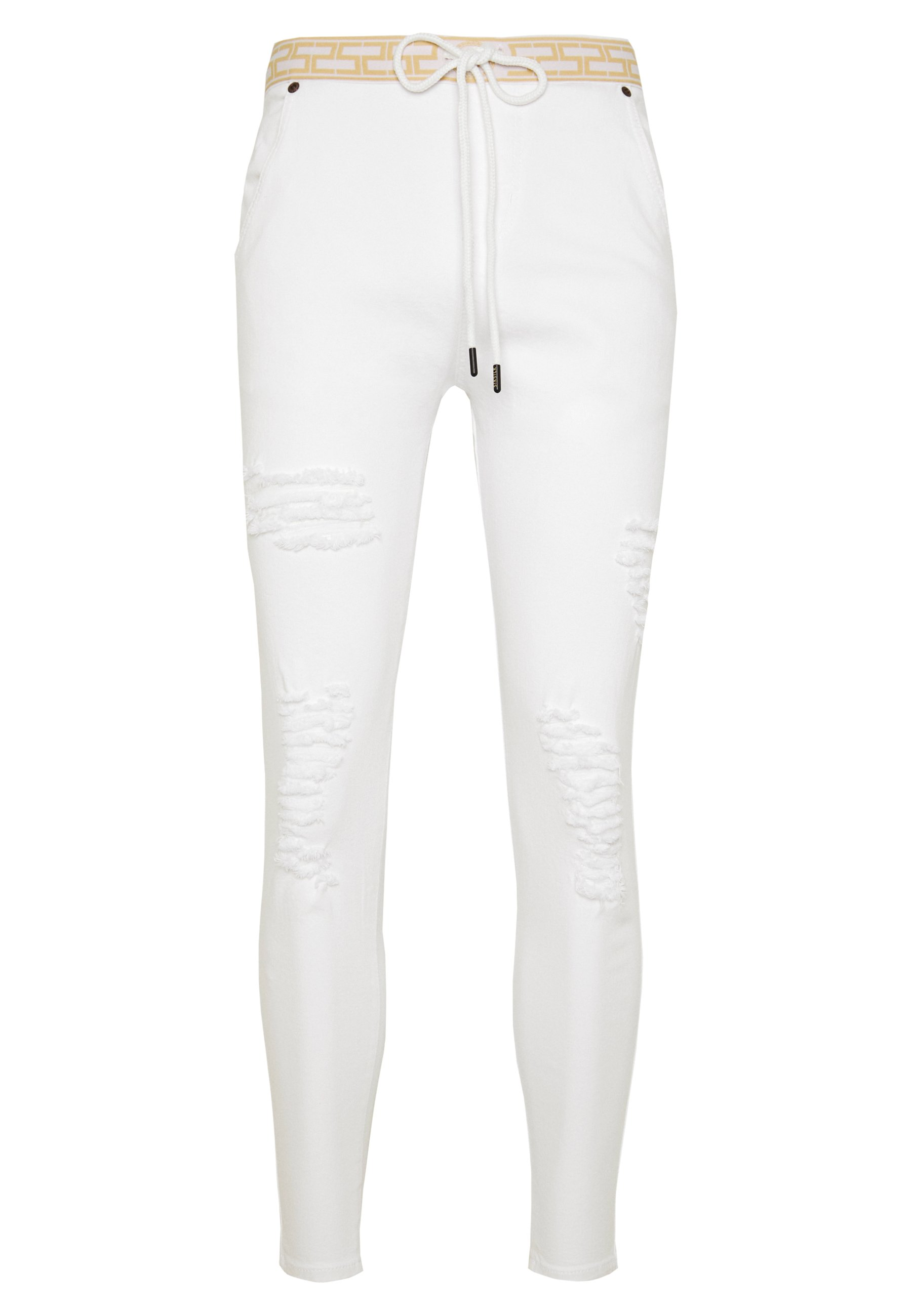SIKSILK DISTRESSED - Jeans Skinny - white