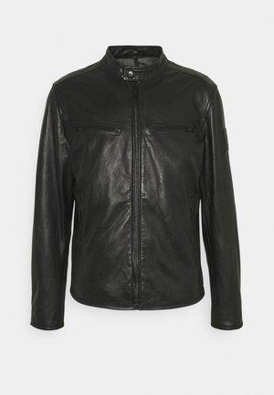 NORWICH - Leather jacket - black