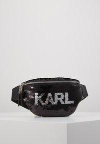 KARL LAGERFELD - SEQUIN BUMBAG - Bum bag - black - 0
