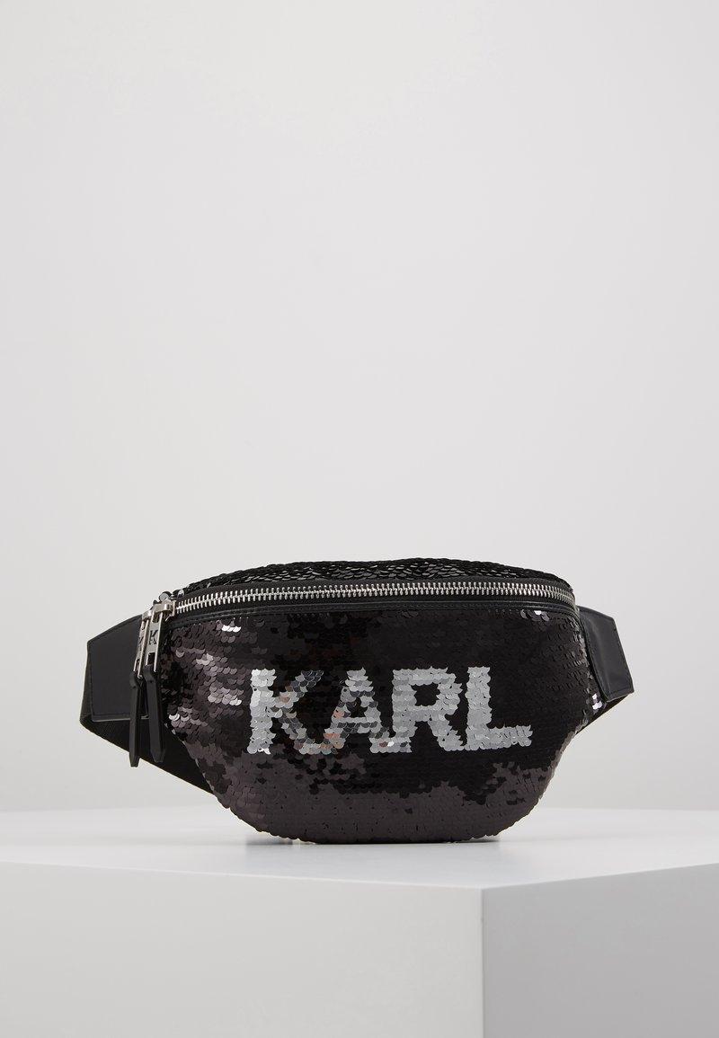 KARL LAGERFELD - SEQUIN BUMBAG - Bum bag - black