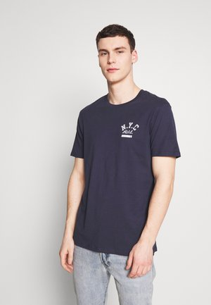 Print T-shirt - true navy