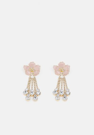 PCSACHA EARRINGS - Náušnice - gold-coloured/rose/clear