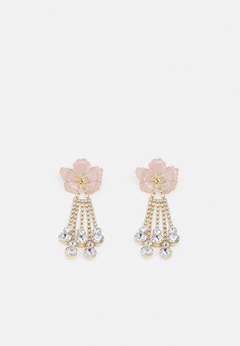 PCSACHA EARRINGS - Earrings - gold-coloured/rose/clear