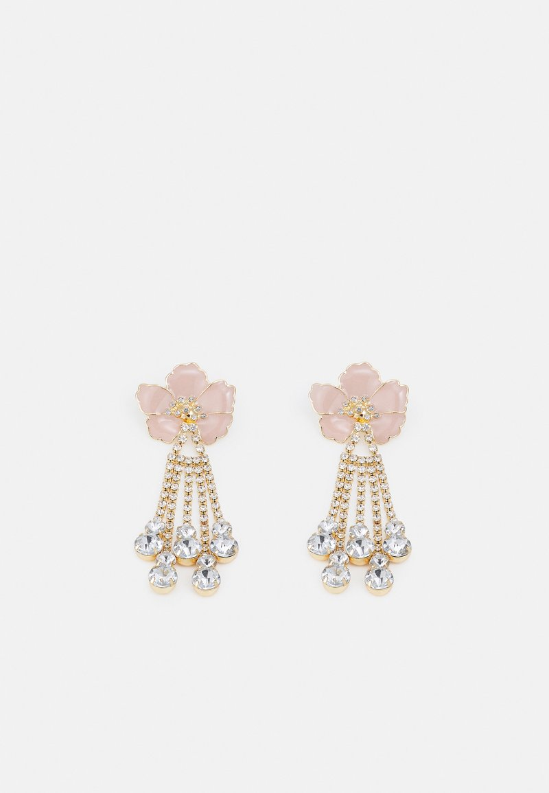 Pieces - PCSACHA EARRINGS - Earrings - gold-coloured/rose/clear
