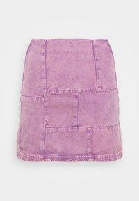 BDG Urban Outfitters - PATCHWORK PELMET SKIRT - Minirok - lilac - 4