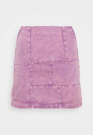 PATCHWORK PELMET SKIRT - Mini skirt - lilac