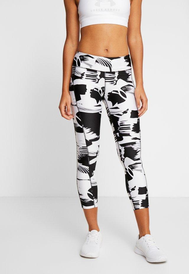 PRINT ANKLE CROP - Leggings - black/white