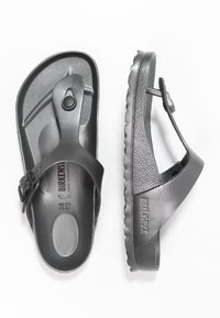 Birkenstock - GIZEH - Pool shoes - metallic anthracite - 2
