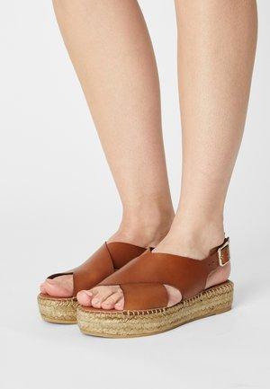 Sandals - cuir