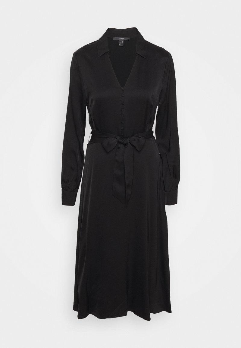 Esprit Collection - DRESS - Košilové šaty - black