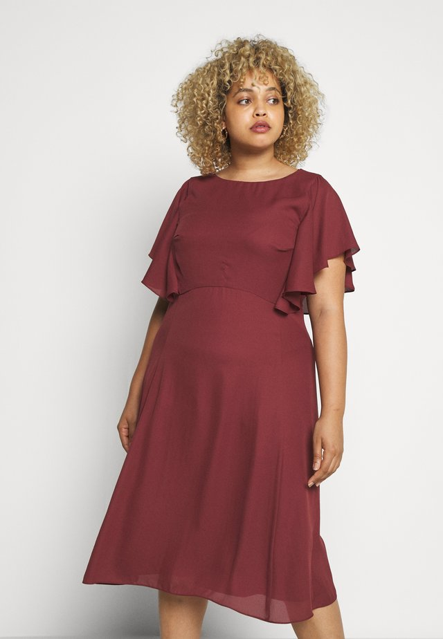 Day dress - earth red