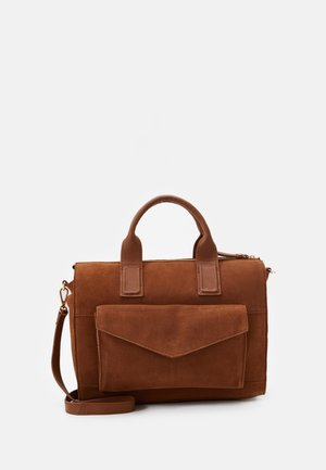 LEATHER - Torebka - cognac