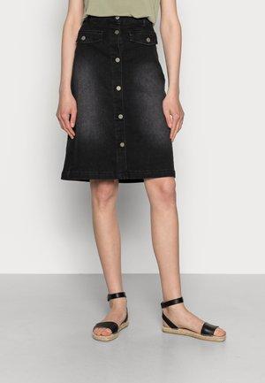 ANINA SKIRT - Suknja od trapera - black washed denim