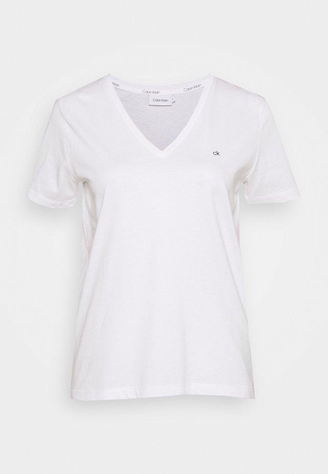 SMALL V NECK  - Basic T-shirt - white