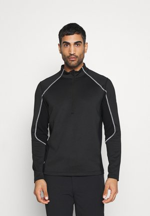 HALCYON - Fleecepullover - black/white