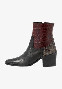 Shoe The Bear - GEORGIA MIX - Cowboy/biker ankle boot - bordeaux - 1