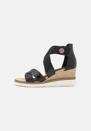 ESRA EVO - Wedge sandals - black