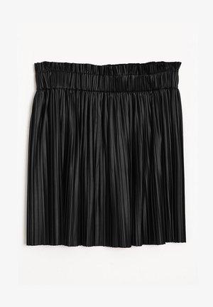 PLISSEE - Mini skirt - schwarz