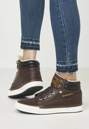 BUCK - Sneakers laag - dk brown/black
