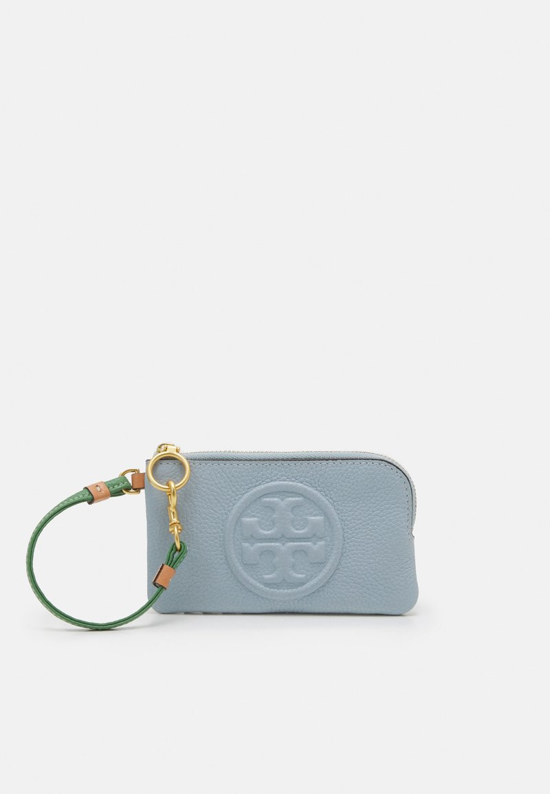 Tory Burch - PERRY BOMBE COLOR BLOCK TOP-ZIP CARD CASE - Wallet - icicle