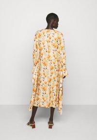 Mother of Pearl - V NECK DRESS WITH PIN TUCKS AND BUTTONS - Vapaa-ajan mekko - poppy peach - 2