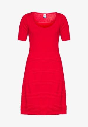 DRESS - Strickkleid - red