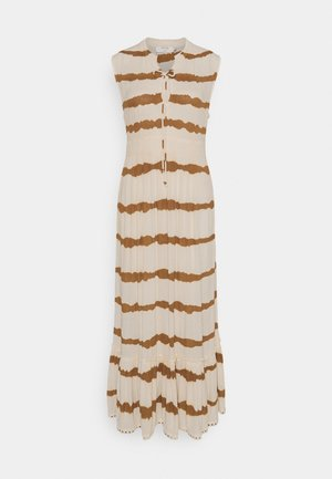 LEIGHCR DRESS - Maxi dress - dull gold tiedye stripe