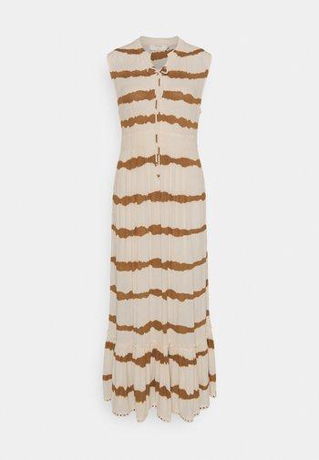 LEIGHCR DRESS - Maxi dress - dull gold tiedye stripe