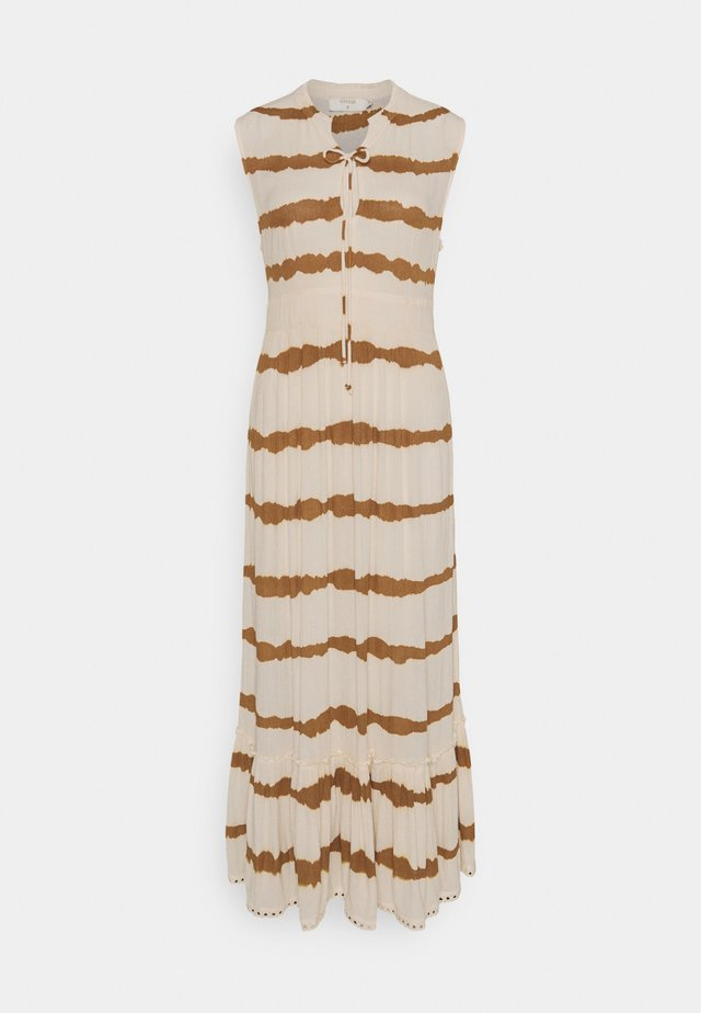 LEIGHCR DRESS - Robe longue - dull gold tiedye stripe