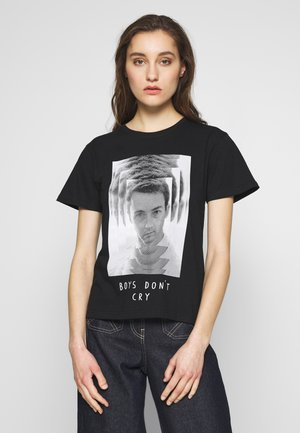 FIGHT TEE - T-shirt z nadrukiem - black