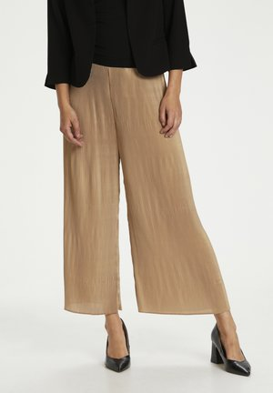 VALENE CROPPED - Trousers - pale gold
