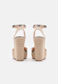 Even&Odd - Platform sandals - beige/brown - 3