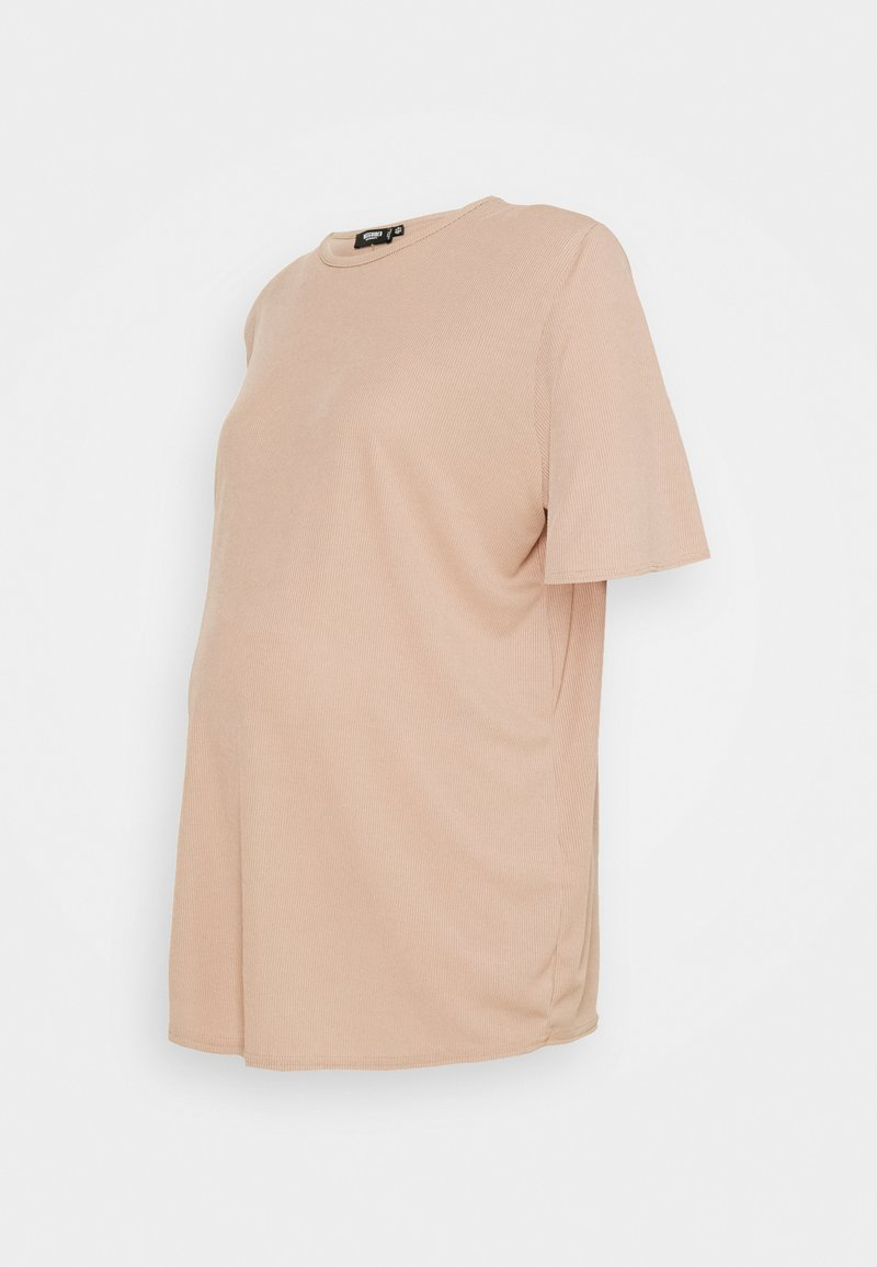 Missguided Maternity - MATERNITY SHOULDER PAD TEE - Basic T-shirt - brown