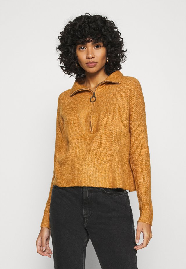 NMNEWALICE HIGH NECK - Trui - brown sugar