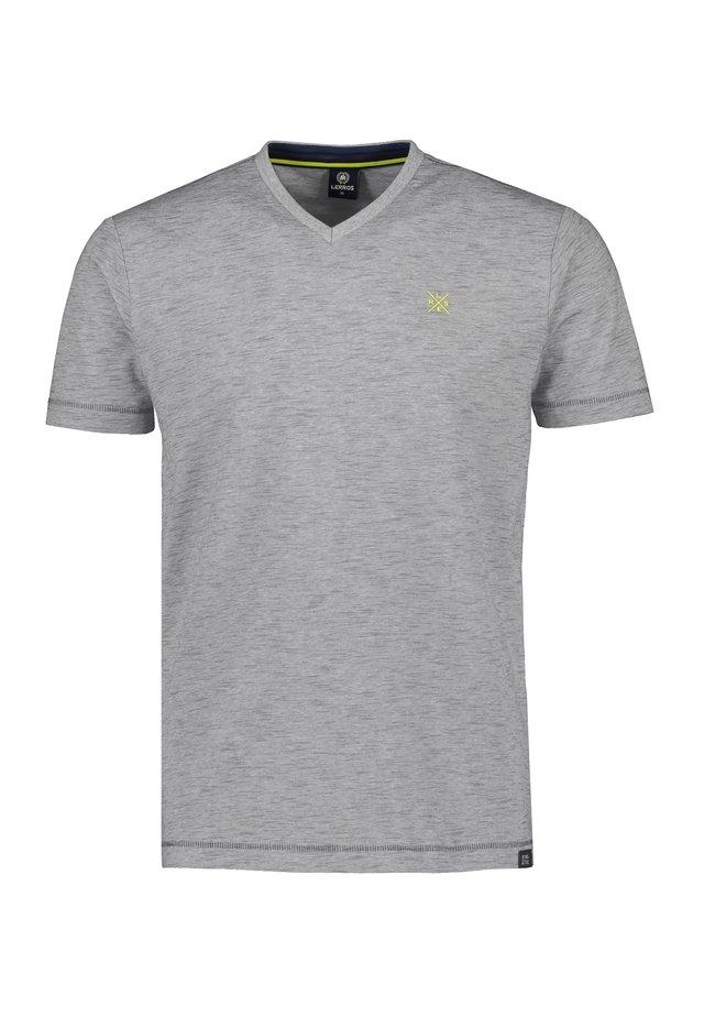 MIT V-AUSSCHNITT - Basic T-shirt - rock grey